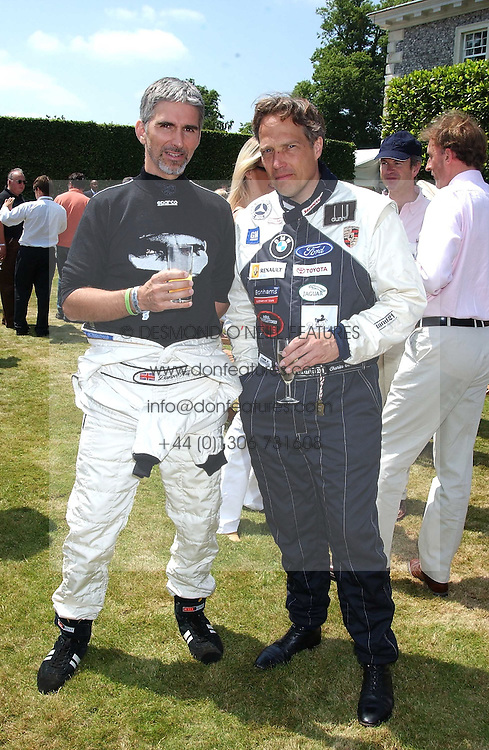 """Left to right, DAMON HILL and The EARL OF MARCH at a luncheon hosted by Cartier at the 2005 Goodwood Festival of Speed on 26th June 2005.  Cartier sponsored the """"Style Et Luxe' for vintage cars on the final day of this annual event at Goodwood House, West Sussex. <br /><br />NON EXCLUSIVE - WORLD RIGHTS"""