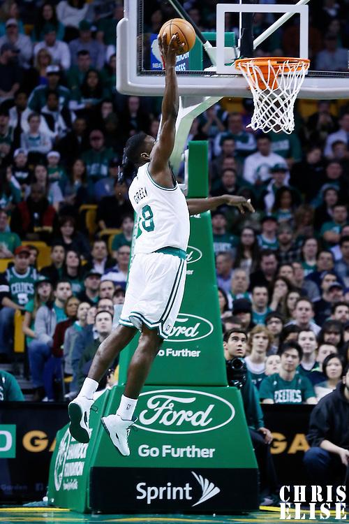 14 January 2013: Boston Celtics power forward Jeff Green (8) dunks the ball during the Boston Celtics 100-89 victory over the Charlotte Bobcats at the TD Garden, Boston, Massachusetts, USA.