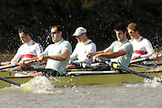 Putney. GREAT BRITAIN,  during the Cambridge University  vs German National Eight race,  raced over the Boat Race Course, on the River Thames, London, on Sat.  03.03.2007,  [Photo Peter Spurrier/Intersport Images] .crew: CUBC bow, Kip McDANIEL, Dan O'SHAUGHNESSY, Peter CHAMPION,.Jacob (Jake) CORNELIUS, Tom JAMES (President), Kieran WEST, Sebastian  SCHULTE, Stroke, Thorsten  ENGLEMANN, cox. Russell GLENN. ..GER M8+.Bow, Joerg DIESSNER, Stephan KOLTZK, Jan-Martin BROER, Matthias FLACH. Ulf SIENES, Jan  TREBRUEGGE, Phillip STUER, stroke, Bernd  HEIDICKER, cox. Peter  THIEBET.  [Mandatory Credit, Peter Spurier/ Intersport Images]. , Rowing Course: River Thames, Championship course, Putney to Mortlake 4.25 Miles, , Varsity Boat Race.