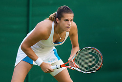 LONDON, ENGLAND - Monday, June 23, 2008: Amelie Mauresmo (FRA) in action during her first round match on day one of the Wimbledon Lawn Tennis Championships at the All England Lawn Tennis and Croquet Club. (Photo by David Rawcliffe/Propaganda)