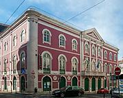 Teatro Da Trindade 1867 Baroque style theatre in Bairro Alto, Lisbon, Portugal
