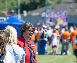 Democratic Unionist Party (DUP) leader Arlene Foster attended a huge Orange walk through Cowdenbeath, Scotland. The controversial march, one of the biggest in the country, saw a heavy police presence, with over 100 officers deployed.<br /> <br /> &copy; Dave Johnston / EEm