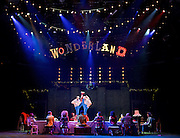 The Mad Hatter&rsquo;s Tea Party <br /> by Zoo Nation<br /> directed by Kate Prince<br /> presented by Zoo Nation, The Roundhouse &amp; The Royal Opera House<br /> at The Roundhouse, London, Great Britain <br /> rehearsal <br /> 29th December 2016 <br /> <br /> <br /> <br /> Rowen Hawkins as Tweedle Dum <br /> <br /> Manny Tsakanika as Tweedle Dee<br /> <br /> Photograph by Elliott Franks <br /> Image licensed to Elliott Franks Photography Services