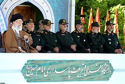 Iran's supreme leader, Ayatollah Ali Khamenei(L)attends a ceremony at the Emam Hossein university, in Tehran, Iran on May 10, 2017. Photo by ParsPix/ABACAPRESS.COM