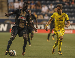 July 26, 2017 - Chester, PA, United States of America - Philadelphia Union Attacker C.J. SAPONG (17) dribbles the ball down field in the second half of a Major League Soccer match between the Philadelphia Union and Columbus Crew SC Wednesday, July. 26, 2017, at Talen Energy Stadium in Chester, PA. (Credit Image: © Saquan Stimpson via ZUMA Wire)