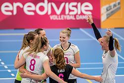 25-10-2017 NED: Sliedrecht Sport - Eurosped TVT, Sliedrecht<br /> Sliedrecht Sport wint met 3-1 van Eurosped / Carmen Oude Luttikhuis #10 of Eurosped, Daphne Knijff #7 of Eurosped