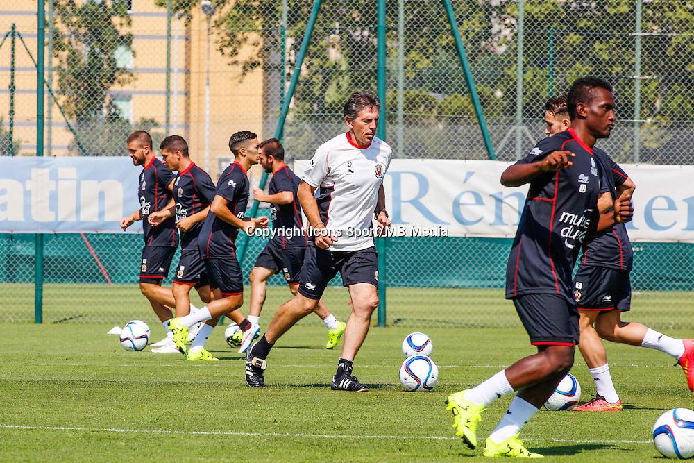 Claude Puel  - 29.06.2015 - Reprise Entrainement de Nice - 2015/2016<br />Photo : Serge Haouzi / Icon Sport
