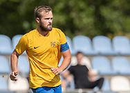 Frederik Arentzen (Ølstykke FC) under kampen i Serie 2 mellem Ølstykke FC og Ejby IF den 7. september 2019 på Ølstykke Stadion. Foto: Claus Birch.