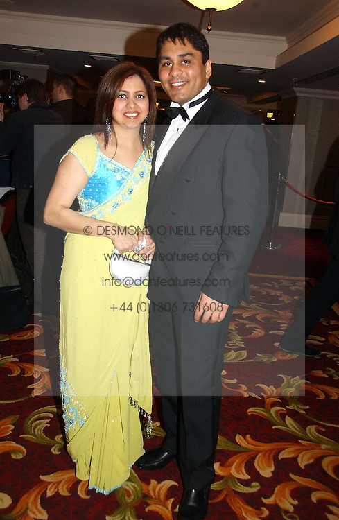 KARL SANDHU CEO of Gold's Gym and his wife SHINDER at the 10th Anniversary Asian Business Awards 2006 at the London Grosvenor Hotel Park Lane, London on 19th April 2006.<br /><br />NON EXCLUSIVE - WORLD RIGHTS