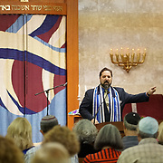 FORT LAUDERDALE, FLORIDA, NOVEMBER 2, 2018<br /> Rabbi David Spey during family Shabbat service at Temple Bat Yam of East Fort Lauderdale. The reform congregation of 220 families was congregating for the first time since the deadly shooting in Pittsburgh on October 27.<br /> (Photo by Angel Valentin/Freelance)