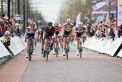 Lisa Brennauer (GER) of CANYON//SRAM Racing wins Stage 3 of the Healthy Ageing Tour - a 154.4 km road race, between  Musselkanaal and Stadskanaal on April 7, 2017, in Groeningen, Netherlands.