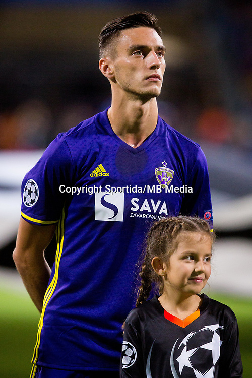MARIBOR, SLOVENIA - SEPTEMBER 13: Gregor Bajde of NK Maribor during UEFA Champions League group E match between NK Maribor and Spartak Moscow at Ljudski Vrt on September 13, 2017 in Maribor, Slovenia. (Photo by Ziga Zupan / Sportida)