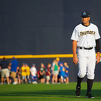 New York Yankees Third Baseman Alex Rodriguez plays a minor league game for the AA Trenton Thunder in Trenton, NJ on August 3, 2013.  He is facing a suspension by Major League Baseball for his alleged use of steroids with the Biogenesis clinic in Florida.