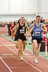 Boston University Terrier Invitational Indoor Track Meet: David McCarthy, Riley Masters, Mens Elite Mile