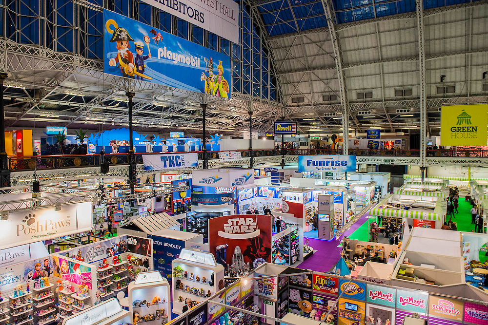 The annual London Toy Fair, the trade show for the toy and games industry, takes place at Olympia.