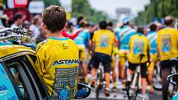 Astana Pro Team, Rider parade on the Champs-Élysées, Tour de France, Stage 21: Évry > Paris Champs-Élysées, UCI WorldTour, 2.UWT, Paris Champs-Élysées, France, 27th July 2014, Photo by Thomas van Bracht / PelotonPhotos.com