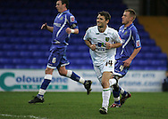 Stockport - Saturday October 31st 2009: Wesley Hoolahan of Norwich City celebrates after scoring the second goal from a penalty against Stockport County during the Coca Cola League One match at Edgeley Park, Stockport. (Pic by Michael SedgwickFocus Images)