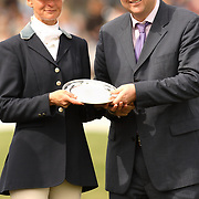 Lucinda Fredericks (AUS) with Jim Tyrrell of Mitsibish Motors UK at the 2007 Mitsubishi Motors Badminton Horse Trials.