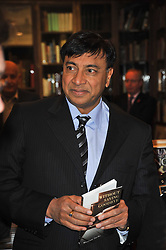 Multi millionaire LAKSHMI MITTAL at a party to celebrate the publication of Maryam Sach's novel 'Without Saying Goodbye' held at Sotheran's Bookshop, 2 Sackville Street, London on 10th November 2009.