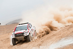 Giniel De Villiers (ZAF) of Toyota Gazoo Racing SA races during stage 04 of Rally Dakar 2019 from Arequipa to o Tacna, Peru on January 10, 2019 // Marcelo Maragni/Red Bull Content Pool // AP-1Y39EMT651W11 // Usage for editorial use only // Please go to www.redbullcontentpool.com for further information. //