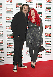 © under license to London News Pictures. 27/03/11. Jonathan Ross and wife Jane Goldman. Outside arrivals of Jameson Empire Awards 2011 at The Grosvenor House Hotel, London . Photo credit should read Andy Barnes/LNP.