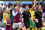 Aston Villa defender John Terry(26) leads out the teams during the EFL Sky Bet Championship match between Aston Villa and Norwich City at Villa Park, Birmingham, England on 19 August 2017. Photo by Dennis Goodwin.