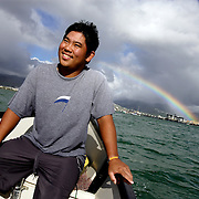 HONOLULU, HAWAII, November 8, 2007: Tadd Fujikawa, a sixteen-year-old professional golfer, off the coast of Honolulu, Hawaii. (Photographs by Todd Bigelow/Aurora)