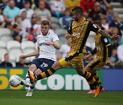 Tom Barkhuizen of Preston North End (L) in action - Mandatory by-line: Jack Phillips/JMP - 05/08/2017 - FOOTBALL - Deepdale - Preston, England - Preston North End v Sheffield Wednesday - English Football League Championship
