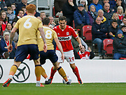 Middlesbrough midfielder Stewart Downing (19)  during the EFL Sky Bet Championship match between Middlesbrough and Nottingham Forest at the Riverside Stadium, Middlesbrough, England on 6 October 2018.