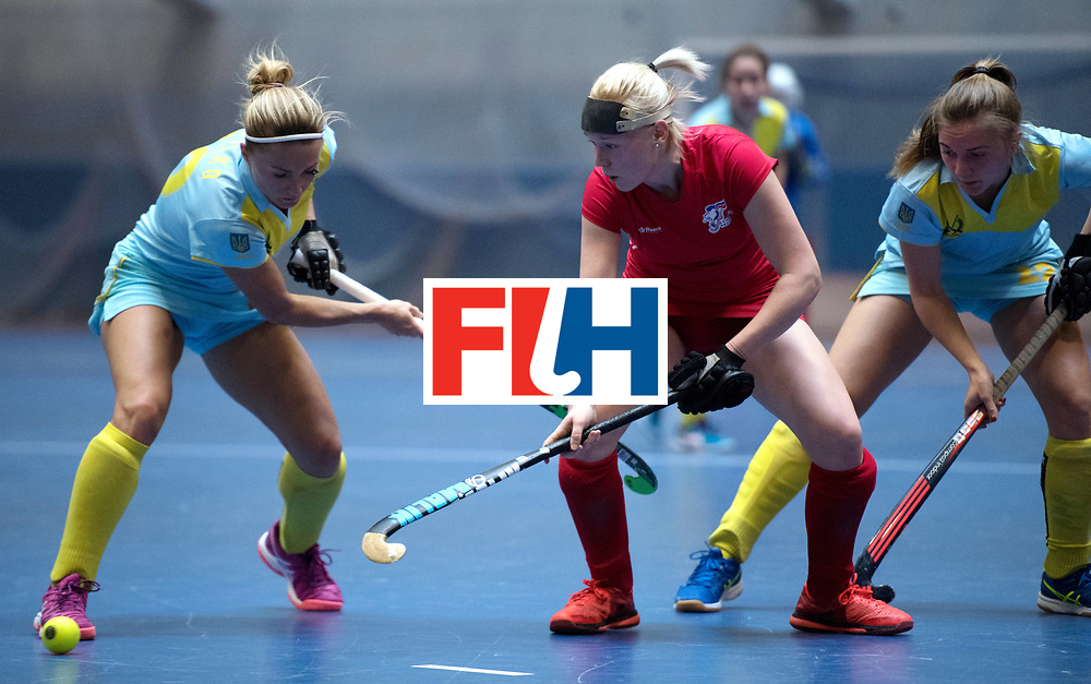 BERLIN - Indoor Hockey World Cup<br /> Women: Ukraine - Czech Republic<br /> foto: LACINA Katerina.<br /> WORLDSPORTPICS COPYRIGHT FRANK UIJLENBROEK