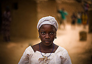 Haoua Bokoum Amadou, 14, in the village of P?t?guers?, 40 km north of Dori, Burkina Faso on Monday May 11, 2009. A few months ago, Haoua was forced to marry the son of her village's chief - who is also her cousin.