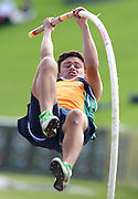 GERMISTON, SOUTH AFRICA, Friday 29 March 2012, Neil Le Roux in the pole vault during the Yellow Pages South African Junior and Schools Athletic Championships at the Germiston Stadium..Photo by Roger Sedres/Image SA