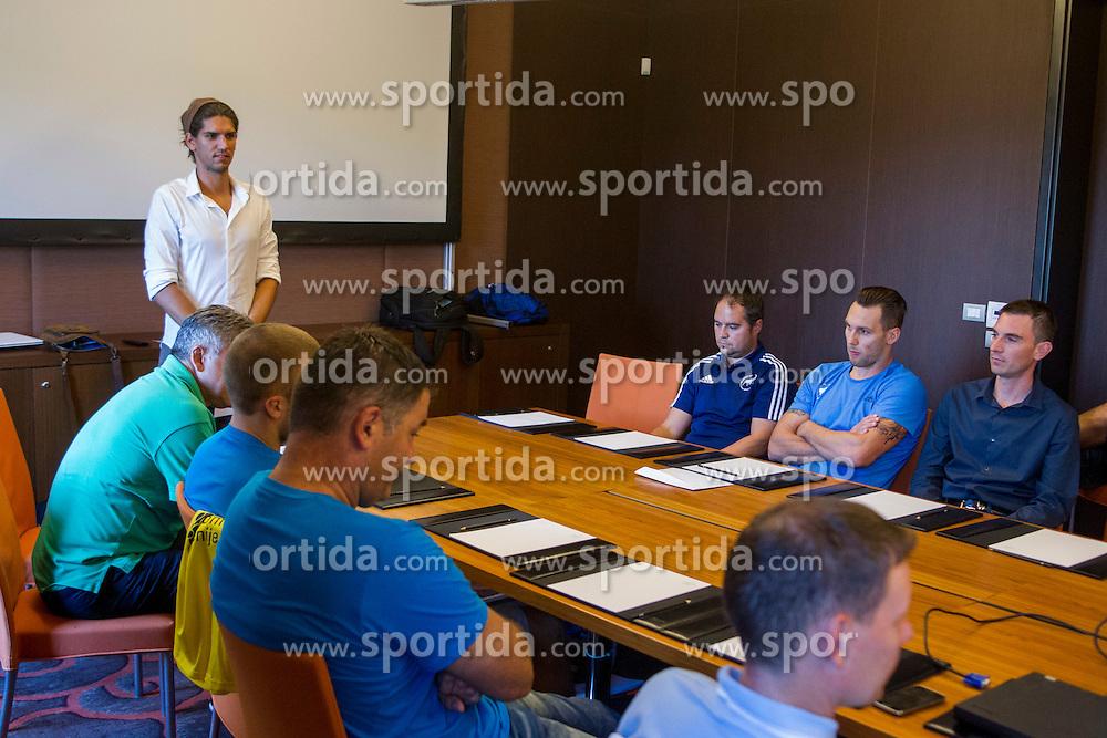 During press conference before 1. NLB League 2015/16, on August 29, 2015 in Kempinski Hotel, Portoroz / Portorose, Slovenia. Photo by Urban Urbanc / Sportida