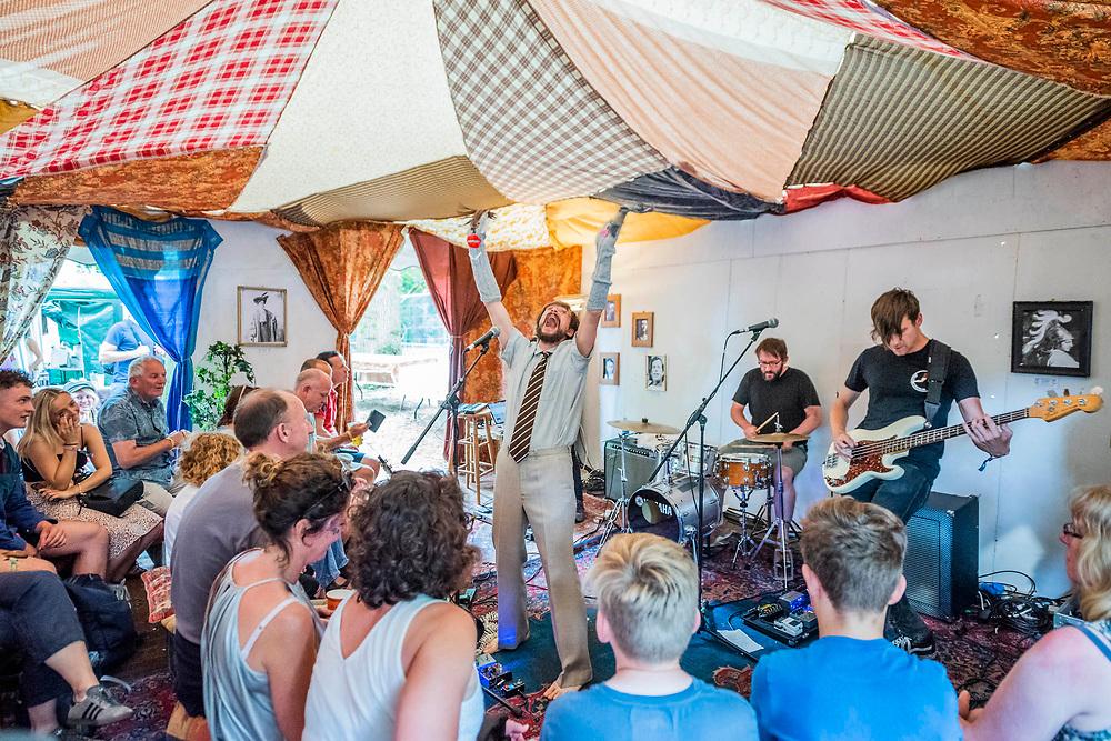 Henham Park, Suffolk, 21 July 2019. The Dash arts forum in the Faraway Forest. The 2019 Latitude Festival.
