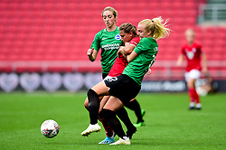 Abi Harrison of Bristol City Women is challenged by Matilde Lundorf of Brighton and Hove Albion Women - Mandatory by-line: Ryan Hiscott/JMP - 07/09/2019 - FOOTBALL - Ashton Gate - Bristol, England - Bristol City Women v Brighton and Hove Albion Women - FA Women's Super League