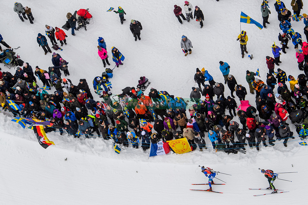 March 16, 2019 - –Stersund, Sweden - 190316 Lisa Vittozzi of Italy and Vanessa Hinz of Germany competes in the Women's 4x6 km Relay during the IBU World Championships Biathlon on March 16, 2019 in Östersund..Photo: Petter Arvidson / BILDBYRÃ…N / kod PA / 92268 (Credit Image: © Petter Arvidson/Bildbyran via ZUMA Press)