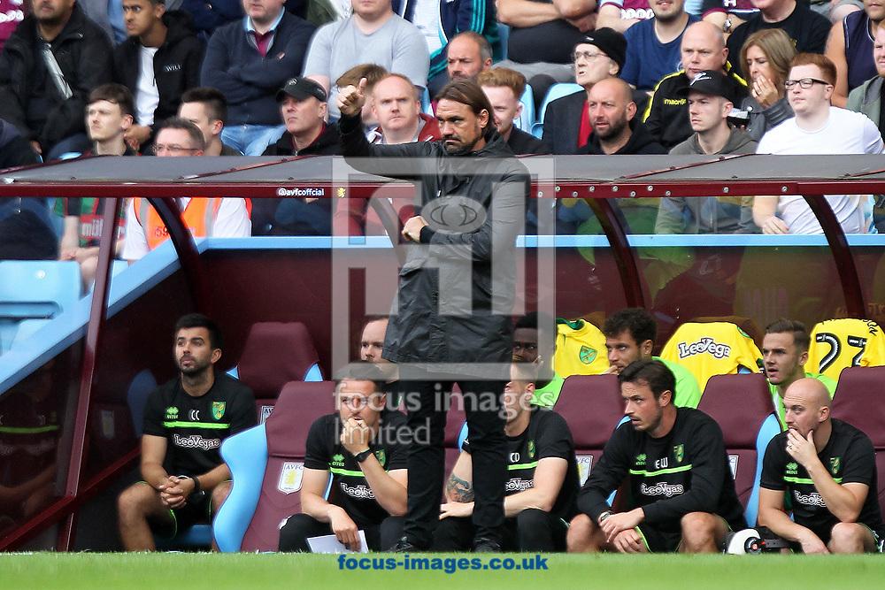 Norwich Head Coach Daniel Farke during the Sky Bet Championship match at Villa Park, Birmingham<br /> Picture by Paul Chesterton/Focus Images Ltd +44 7904 640267<br /> 19/08/2017