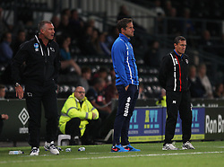 Grimsby Town manager Paul Hurst (R)  - Mandatory by-line: Jack Phillips/JMP - 09/08/2016 - FOOTBALL - iPro Stadium - Derby, England - Derby County v Grimsby Town - EFL Cup First Round