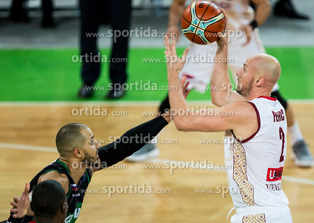 Hrvoje Perić of Umana Reyer Venezia during basketball match between KK Petrol Olimpija Ljubljana and Umana Reyer Venezia (ITA) in Round #5 of FIBA Basketball Champions League 2017/18, on November 7, 2017 in Arena Stozice, Ljubljana, Slovenia. Photo by Vid Ponikvar / Sportida