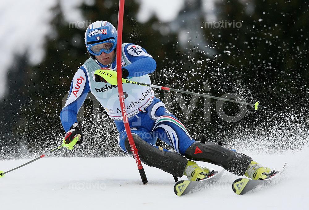 Ski Alpin;  Saison 2006/2007   06.01.2007 42. Weltcup Slalom  Herren Manfred Moelgg (ITA)