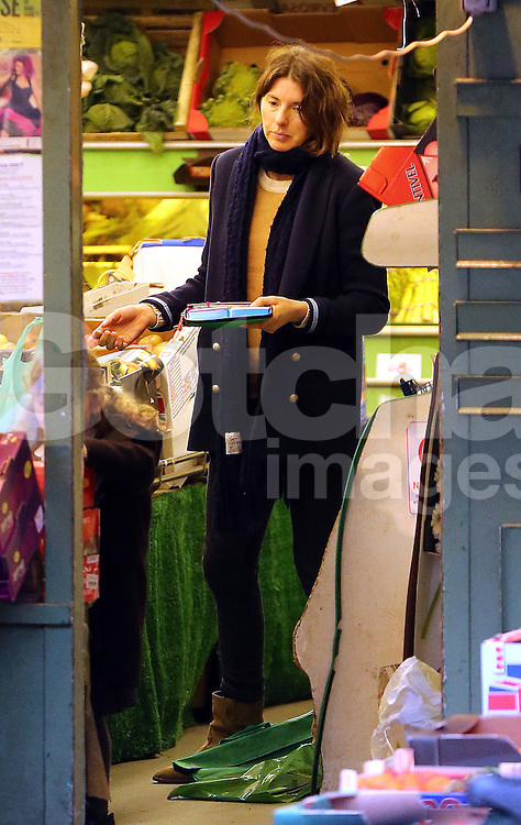 Jools Oliver visits a bookshop with her youngest daughter Petal Blossom Rainbow before picking up some Fruit &amp; Veg in London, UK. 15/01/2014<br />