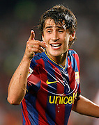 FC Barcelona's Bojan Krkic during  La Liga match.August 31 2009.