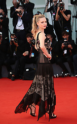 Venice, Italy. 31th August, 2017. Amanda Seyfried attend the 'First Reformed' red carpet during the 74th Venice Film Festival in Venice, Italy, on August 31, 2017. (Photo by Matteo Chinellato/NurPhoto/Sipa USA)