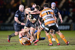Taine Basham of Dragons Guinness PRO14, Rodney Parade, Newport, UK 29/02/2020<br /> Dragons vs Toyota Cheetahs<br /> <br /> Mandatory Credit ©INPHO/Dougie Allward