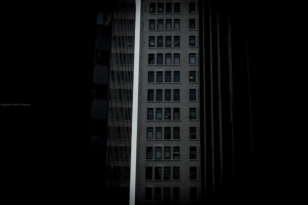 The 61 Broadway facade as seen from Exchange Place.