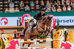 WOLF Cedric (GER), Mojito van de Vlasvloemhoeve<br /> Leipzig - Partner Pferd 2020<br /> FUNDIS Youngster Tour<br /> 2. Qualifikation für 7jährige Pferde <br /> Springprfg. nach Fehlern und Zeit, int.<br /> Höhe: 1.35 m<br /> 18. Januar 2020<br /> © www.sportfotos-lafrentz.de/Stefan Lafrentz