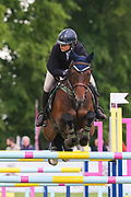 Classic VI ridden by Kirsty Johnston in the Equi-Trek CCI-4* Show Jumping during the Bramham International Horse Trials 2019 at Bramham Park, Bramham, United Kingdom on 9 June 2019.