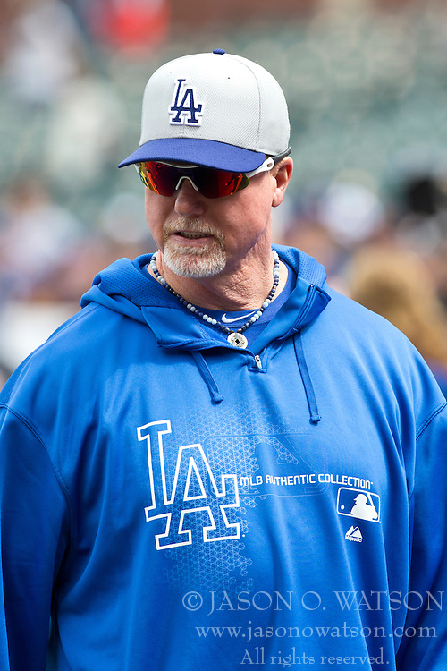SAN FRANCISCO, CA - MAY 05: Mark McGwire #12 of the Los Angeles Dodgers during batting practice before the game against the San Francisco Giants at AT&T Park on May 5, 2013 in San Francisco, California. The San Francisco Giants defeated the Los Angeles Dodgers 4-3. (Photo by Jason O. Watson/Getty Images) *** Local Caption *** Mark McGwire