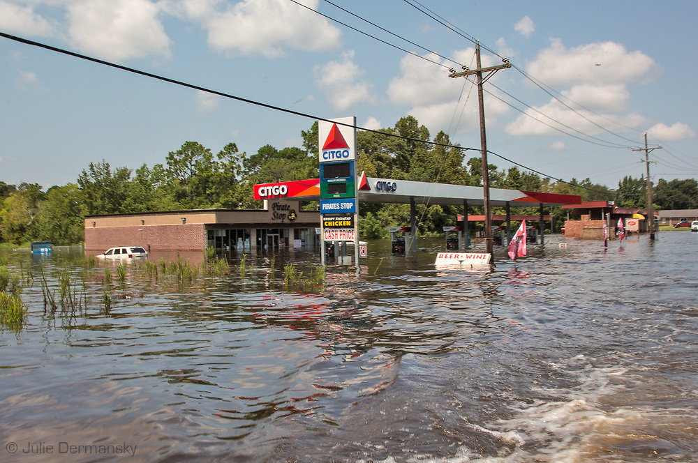 Sept 1, 2017, flooded Citgo gas station in Vidor, Texas. Hurricane Harvey, was downgraded to a tropical storm when it flooded Vidor, Texas and the surroundingarea.