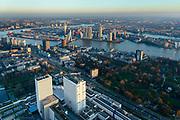 Nederland, Zuid-Holland, Rotterdam, 07-02-2018; centrum Rotterdam met Erasmus MC Dijkzigt. Nieuwe Maas met zicht op Kop van Zuid, Noordereiland, Erasmusbrug.<br /> City centre Rotterdam Erasmus medical centre.<br /> <br /> luchtfoto (toeslag op standard tarieven);<br /> aerial photo (additional fee required);<br /> copyright foto/photo Siebe Swart